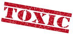 Stock Illustration of toxic red grunge stamp