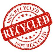 Stock Illustration of recycled red stamp