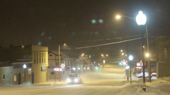 Snowy Night in a Midwestern City 05 Stock Footage