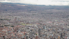 Stock Video Footage of The sprawling metropolis of Bogota in Colombia