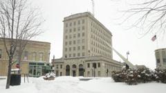 Oshkosh Downtown Square 02 Stock Footage