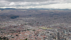 The huge city of Bogota, Colombia Stock Footage