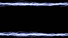 Electricity Border 2 horizontal alpha Stock Footage
