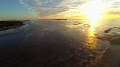 Beautiful Sunrise on the Gulf - stock footage