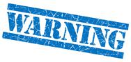 Stock Illustration of warning blue grunge stamp