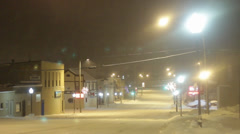 Snowy Night in a Midwestern City 04 Stock Footage