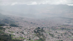 HD 1080p video of clouds over city of Bogota in Colombia Stock Footage