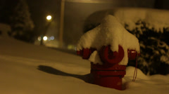 Fire Hydrant in the Snow 02 Stock Footage