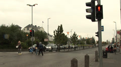 Reykjavik Iceland Time Lapse City Intersection - stock footage