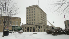 Downtown Oshkosh, WI - First National Building Stock Footage