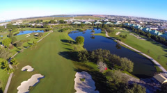 Doral Golf Course aerial footage Stock Footage