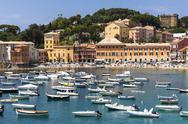 Stock Photo of Italy, Liguria, Sestri Levante, Baia del Silenzio