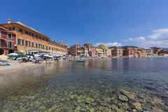 Italy, Cinque Terre, Sestri Levante, Baia del Silenzio Stock Photos