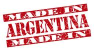 Stock Illustration of made in argentina grunge red stamp