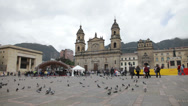 Stock Video Footage of Bolívar Square in Bogota, Colombia