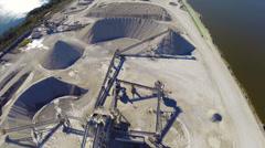 IIndustrial dig site Stock Footage
