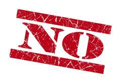 no red grunge stamp - stock illustration