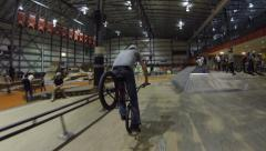 Extreme Sport - BMX Front Wheel Hang 5 Wheelie Stock Footage