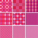 Stock Illustration of set of plaid seamless patterns in pink colors for girls