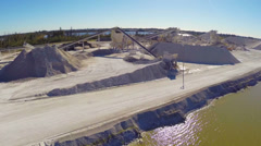 Industrial construction site Stock Footage