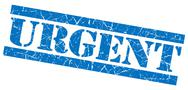 Stock Illustration of urgent blue grunge stamp
