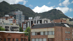 Mountains towering over Bogota, Colombia Stock Footage