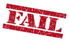 Fail grunge red stamp Stock Illustration