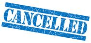 Stock Illustration of cancelled grunge blue stamp