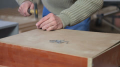 Carpenter vasaralla ja kynsien puunjalostus Arkistovideo