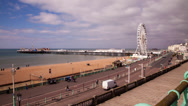 Time lapse of Brighton seafront and pier Stock Footage