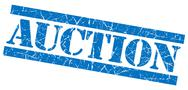 Stock Illustration of auction grunge blue stamp