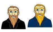 Senior man with beard Stock Illustration