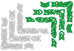 celtic ornaments and patterns - stock illustration
