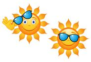 Stock Illustration of funny sun in sunglasses