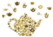 Stock Illustration of teapots and cups of tea