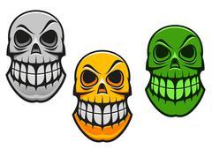 monster skull - stock illustration
