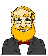 Stock Illustration of smiling man with orange beard
