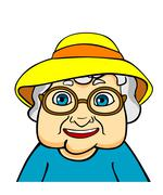 old grandmother - stock illustration
