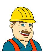 Builder man or engineer Stock Illustration