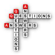 question and answers - stock illustration