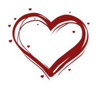 illustrated heart - stock illustration