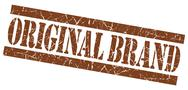Stock Illustration of original brand grunge brown stamp