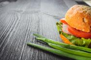 Stock Photo of sandwich on the wooden table