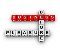 Business before pleasure Stock Illustration