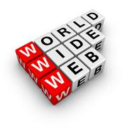 word wide web - stock illustration