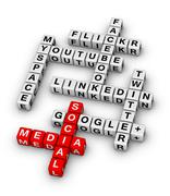 Most popular social networking sites Stock Illustration