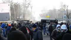 Anti-government protest in Kiev Stock Footage