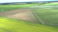 Stock Video Footage of Aerial Shot of fields