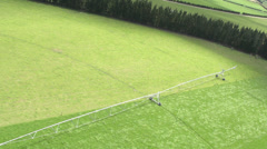 Aerial Shot of an Irrigator Stock Footage