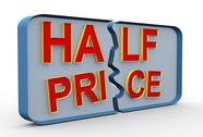 Stock Illustration of 3d half price